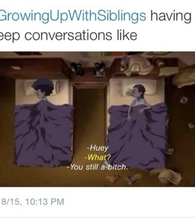 memes, growing up with siblings and boondocks