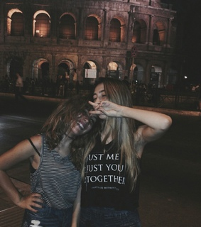 best friends, coloseum and darkness