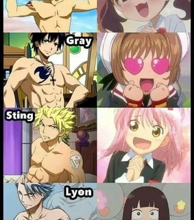 fairy tail, gray and lyon