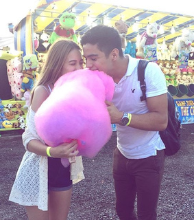 beauty, cotton candy and couple