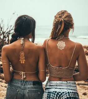 back, beautiful and best friends