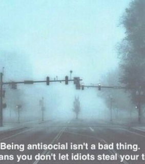 alone, antisocial and idiots