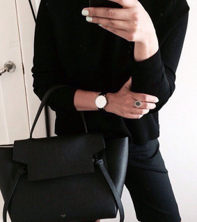 all black, beautiful and black bag