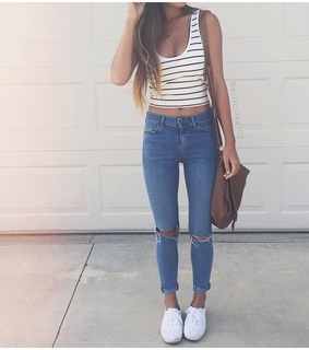 fashion, hair and jeans