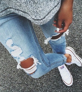 all star, converse and jeans