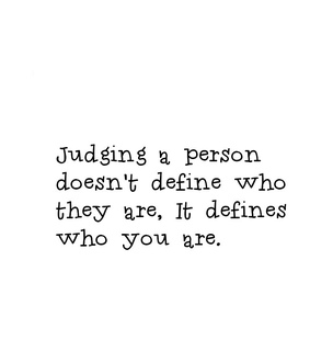 define, judging and quotes