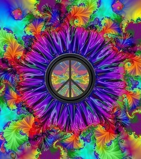 colors, hippy and peace