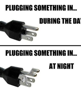 at night, funny and plugs
