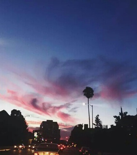 aesthetic, clouds and la