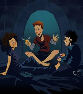 hermione granger, ron weasly and ️harry potter