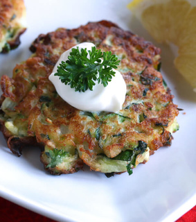 food, zucchini and fritters