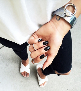 beauty, black and braclet