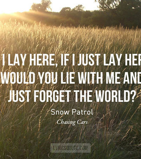 chasing cars, grunge and love
