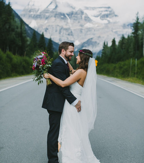bride, couple and love
