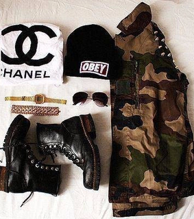 chanel, obey and outfit