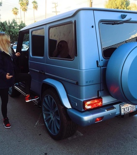 blonde, blue and car