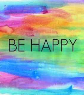 colors, frases and happy