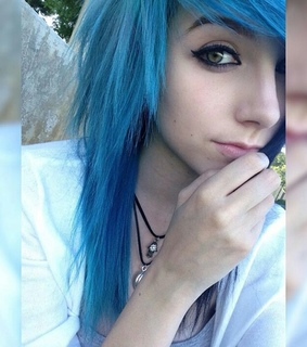 blue, cute and emo
