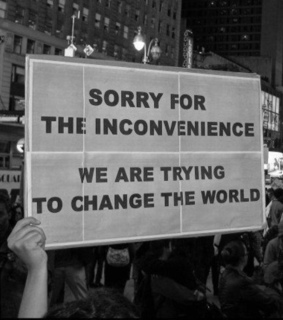 change, demonstration and inconvenience