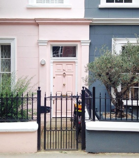 london, pink house and uk