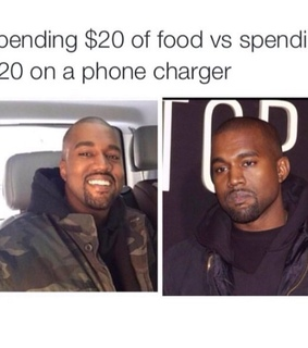 charger, food and fr