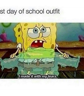 back to school, crying and first day