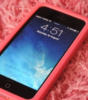 carpet, iphone and pink