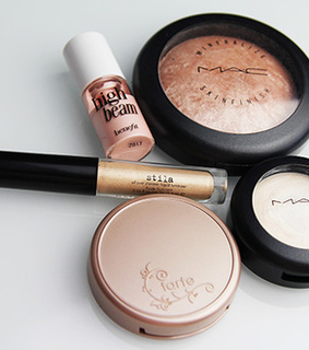 gold, makeup and pretty