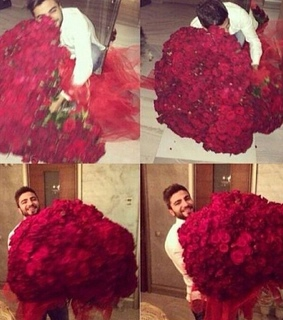 boyfriend, flowers and funny