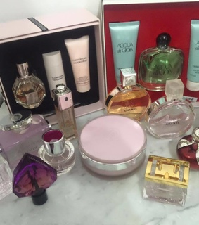 chanel, prada candy and perfume collection