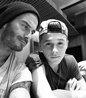 daddy, david beckham and brooklyn beckham