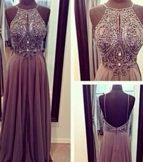 backless, beading and cute
