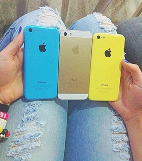 apple, blue and cute