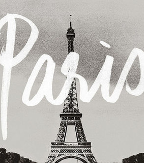 black and white, paris and the eiffel tower