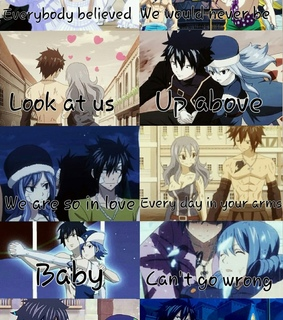 anime couple, fairy tail and gray fullbuster