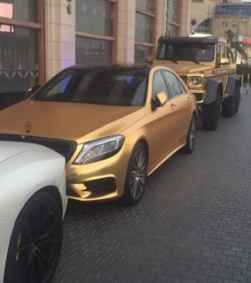 car, gold and mercedez
