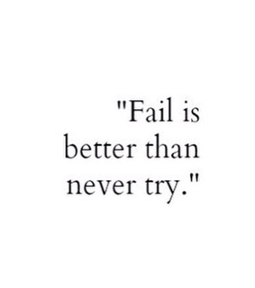 fail, never and never say never