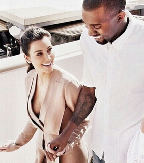 cute couple, husband & wife and kanye west