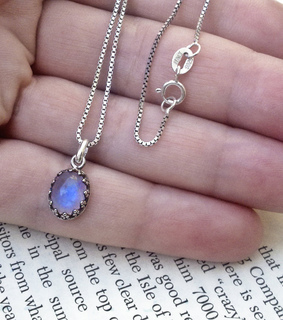 gothic jewelry, jewellery and moonstone necklace