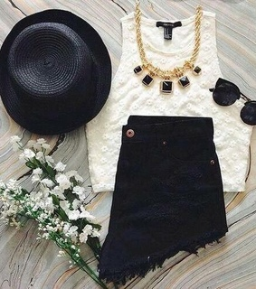 black, black and white and clothes
