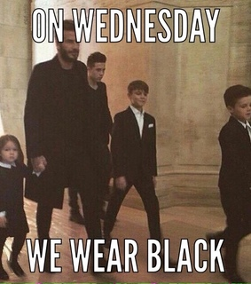 black, david beckham and family