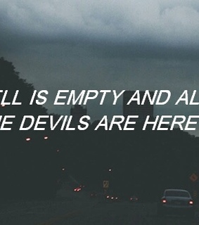 black, devils and empty