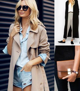 fashion, outfit and trench coat