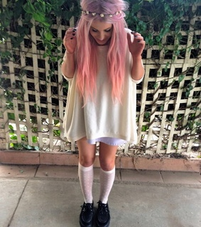 aesthetic, creepers and dress
