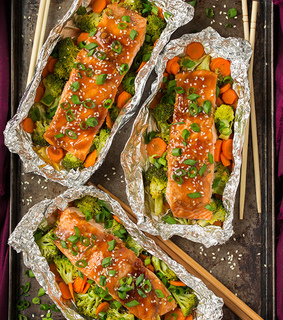 food, healthy and salmon
