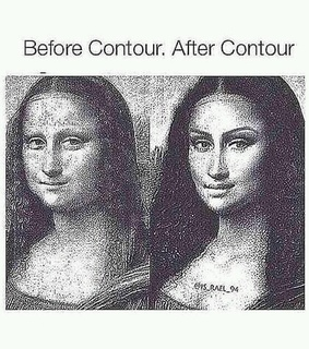 before and after, contouring and funny