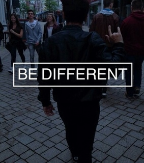 be different, sad teens and happy colour