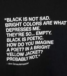black, black and white and quote