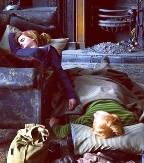 emma, hermione and ron weasly