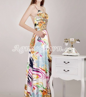 a-line, evening dress and multi-colored